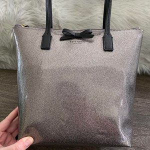kate spade Bags - Kate Spade Silver Sparkly Tote